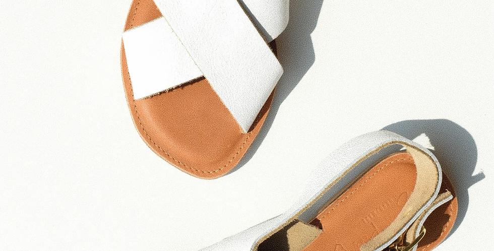 Sweet Peas Santorini Sandals - White