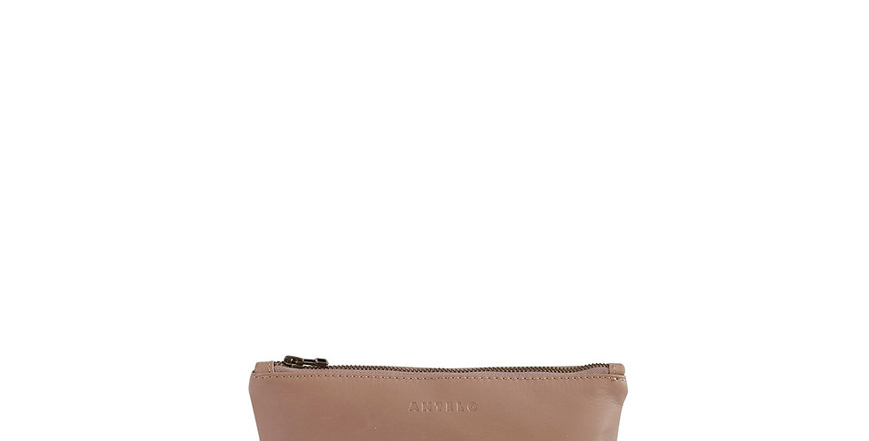 Antelo Alex Small Leather Vanity -Sand