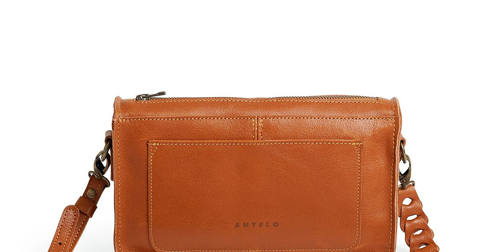 Antelo Bailey Leather Crossbody Bag - Cider