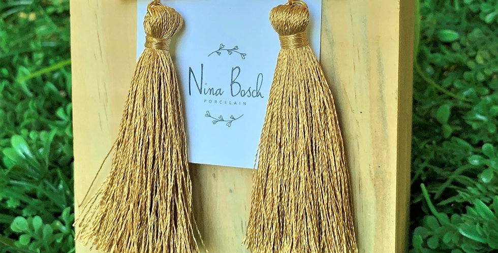 Nina Bosch Half Moon Tassel Earrings
