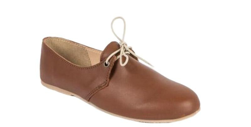 Halle Leather Lace Ups - Brown