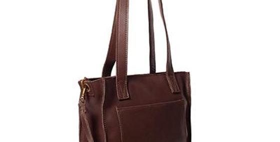 Antelo Ava Crossbody Leather Tote - Brown