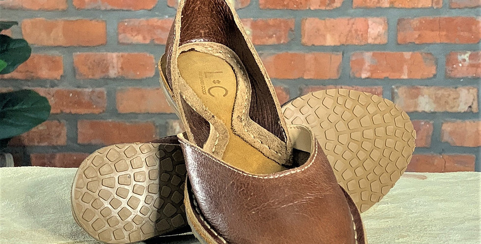 Bebe Tan BrownLeather Shoes