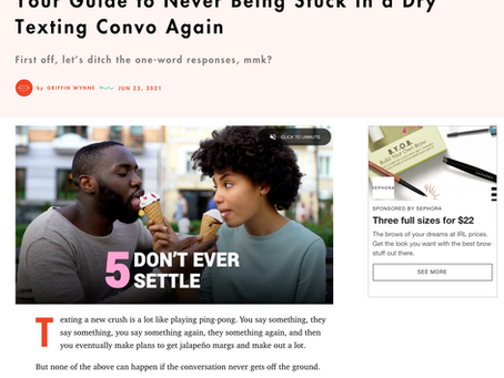 Your Guide to Never Being Stuck in a Dry Texting Convo Again - Cosmopolitan: