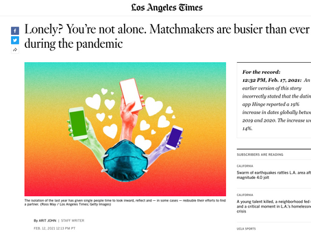 Lonely? You're not alone. Matchmakers are busier than ever during the pandemic - LA TIMES