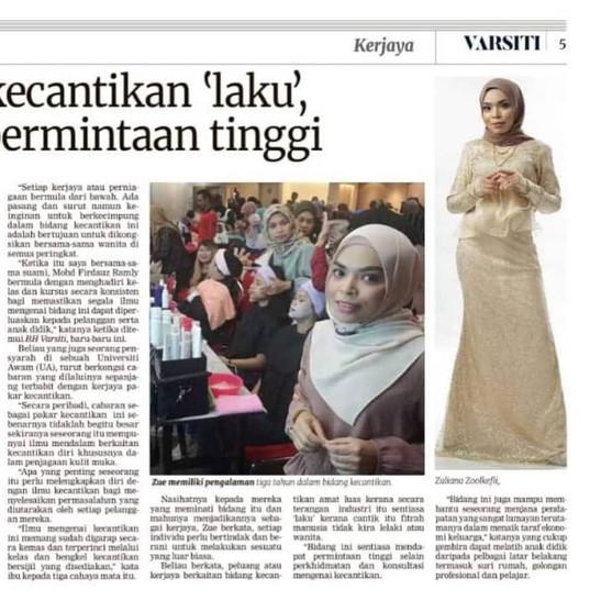 Madam Zue di Berita Harian