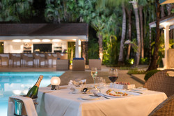 Tortuga Bay Romantic Dinner Bamboo Restaurant Patio & Pool Area