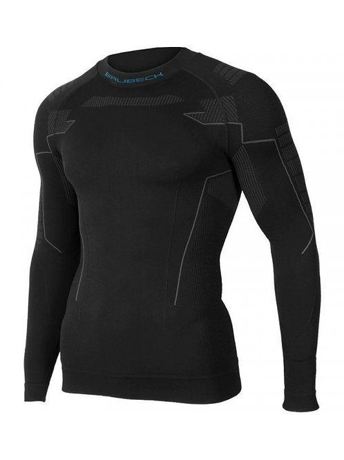 Sweat-shirt manches longues BRUBECK THERMO Noir - Homme