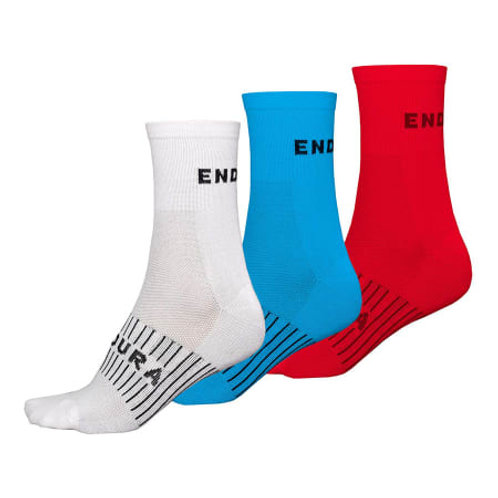 Lot de 3 paires de chaussettes Endura RACE COOLMAX