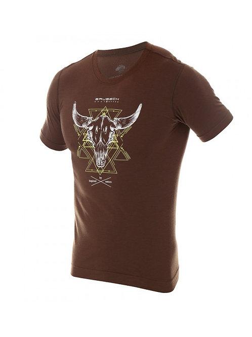T-shirt BRUBECK OUTDOOR WOOL PRO Marron - Homme