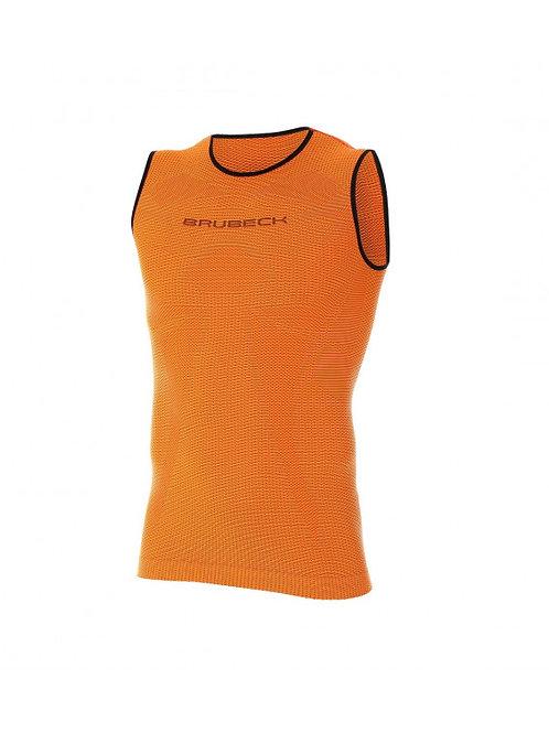 Débardeur BRUBECK 3D RUN PRO ATHLETIC orange - Homme