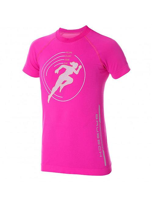 T-Shirt BRUBECK RUNNING AIR PRO Rose - Femme