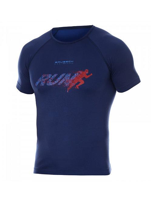 T-shirt BRUBECK RUNNING AIR PRO Bleu - Homme