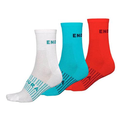 Lot de 3 paires de chaussettes ENDURA RACE COOLMAX