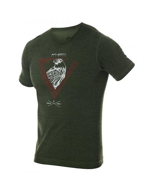 T-shirt BRUBECK OUTDOOR WOOL PRO Vert - Homme