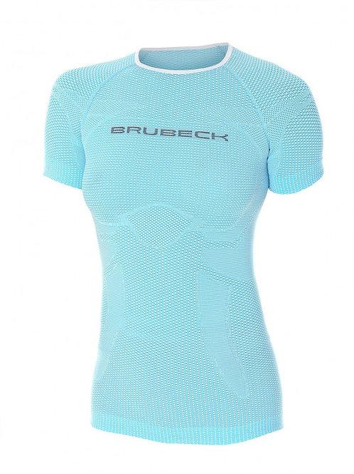 T-shirt BRUBECK 3D RUN PRO Bleu - Femme