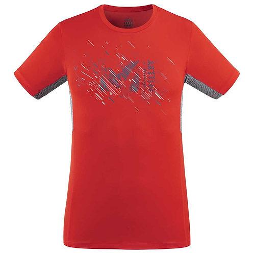 T-shirt MILLET MTK PRINT LIGHT TS SS rouge - Homme