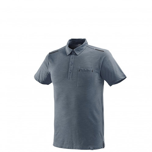 T-shirt MILLET IMJA WOOL POLO gris - Homme