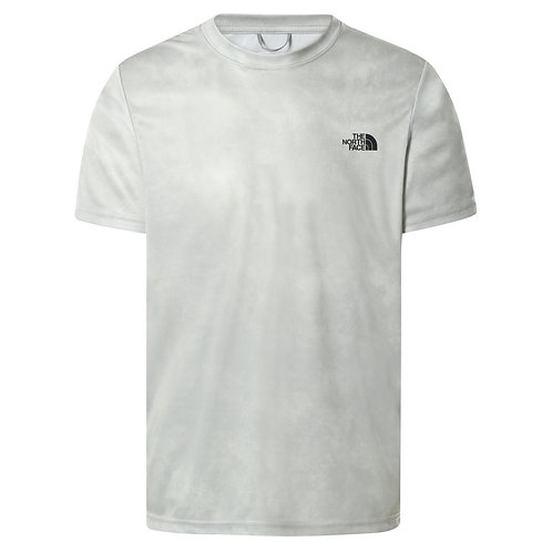 T-shirt THE NORTH FACE REAXION AMP CREW - WROGHT IRON MORNING FOG PRINT