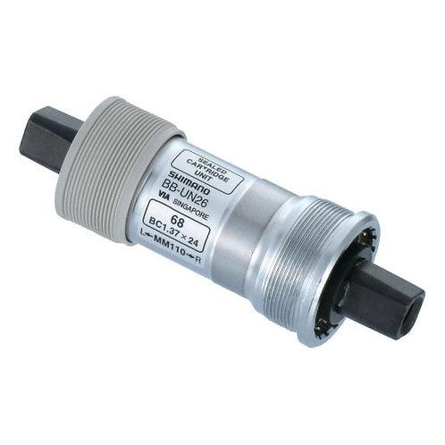 Boîtier de pédalier carré SHIMANO BB-UN26 BSA 117.5/68mm