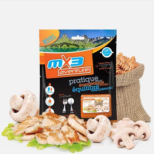 Poulet et pâtes aux champignons MX3 - 125g
