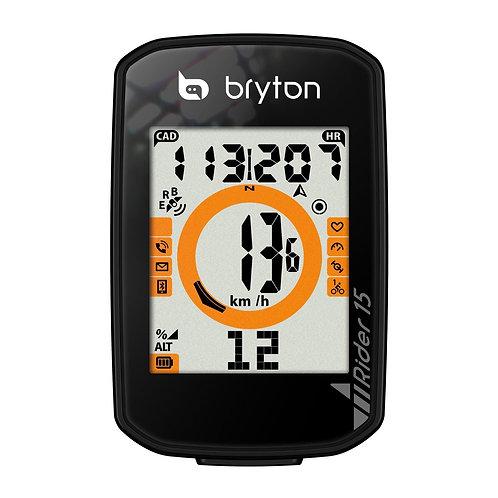 Compteur GPS BRYTON RIDER 15E - Noir