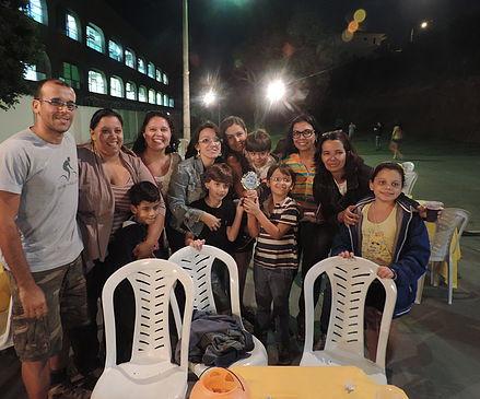Família e amigos no Desafio