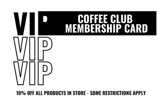 VIP Coffee Club Card (In-Store)