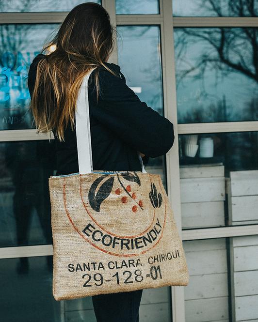 Upcycled Burlap Coffee Bag