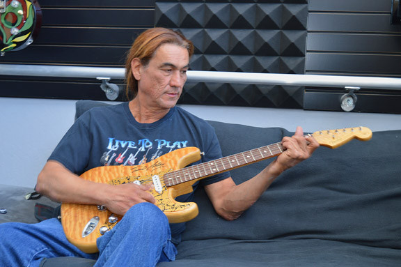 Art Esparza former Fender Senior Master Builder and a special Stratocaster he built
