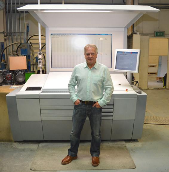 Gary Davies at printers Latimer Trend in Plymouth Devon UK