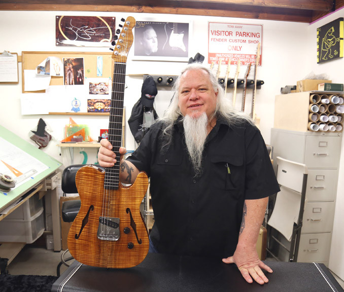John Page co-founder of the Fender  Custom Shop and owner of John Page Guitars