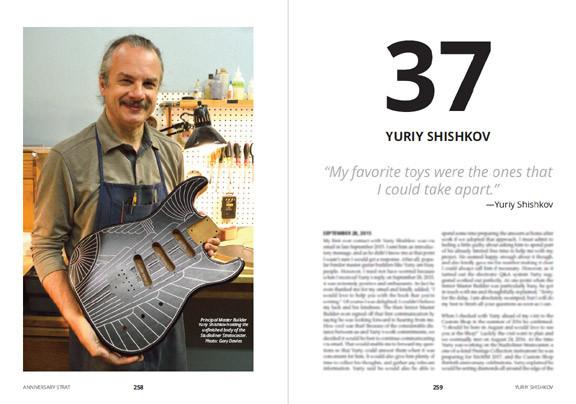 Yuriy Shishkov Principal Master Builder Fender Custom Shop Anniversary Strat book