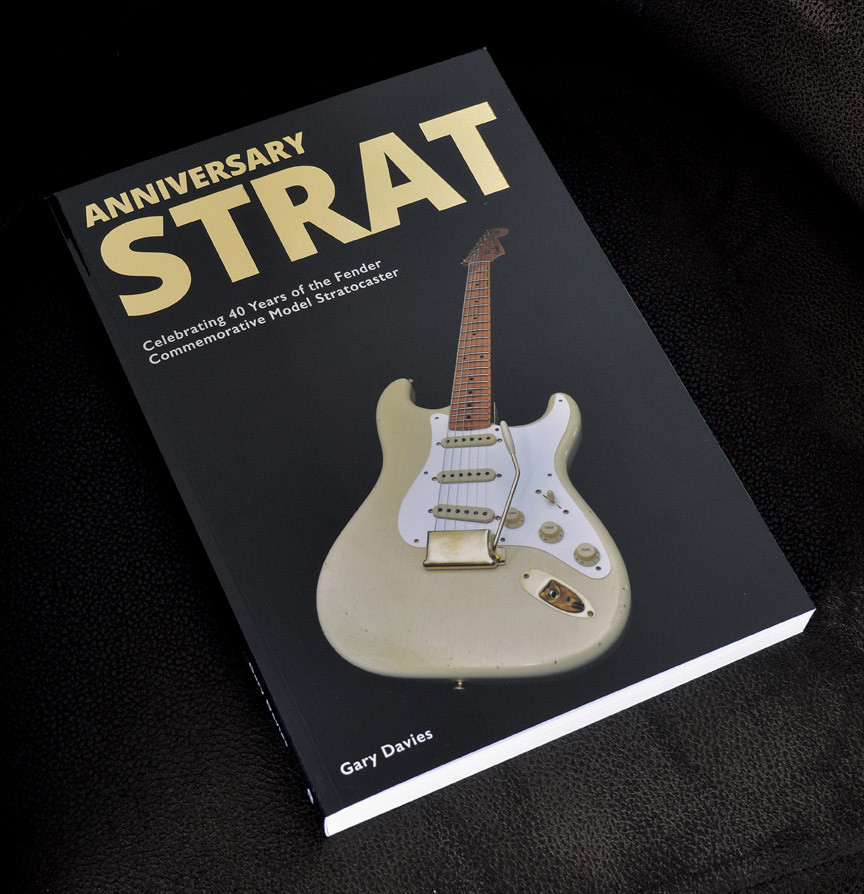 Anniversary Strat the book by Gary Davies on Fender Commemorative Stratocaster electric guitars is shipping worldwide