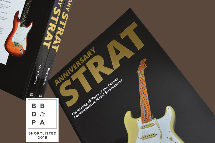 Anniversary Strat book shortlisted for the British Book Design and Production Awards