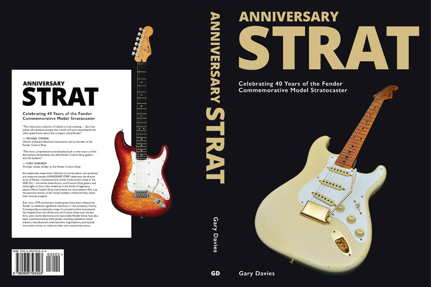 Anniversary Strat the cover is done and the book is currently being proofread