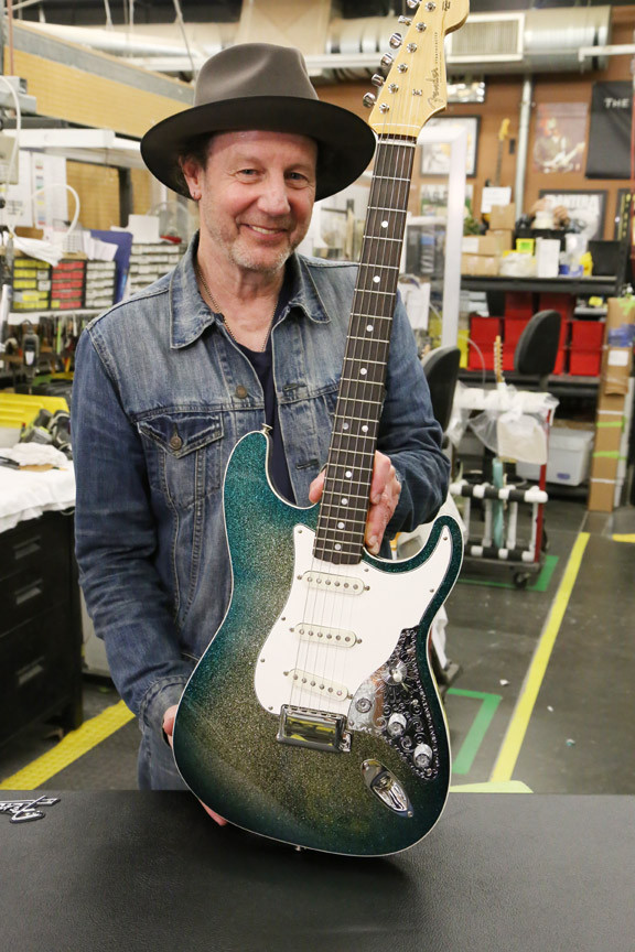 Mark Kendrick with his 30th Anniversary Founders Design Fender Stratocaster
