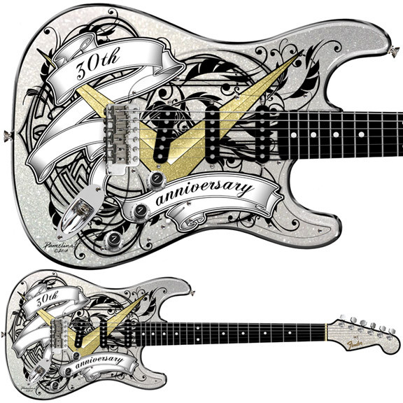 Limited Edition 30th Anniversary Stratocaster and handpainted by Pamelina H to be released in 2017