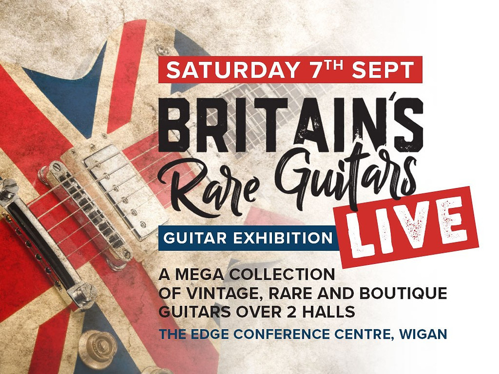 Britain's Rare Guitars Show in Wigan with Gary Davies author of the Anniversary Strat book on Fender guitars and the Custom Shop master builders