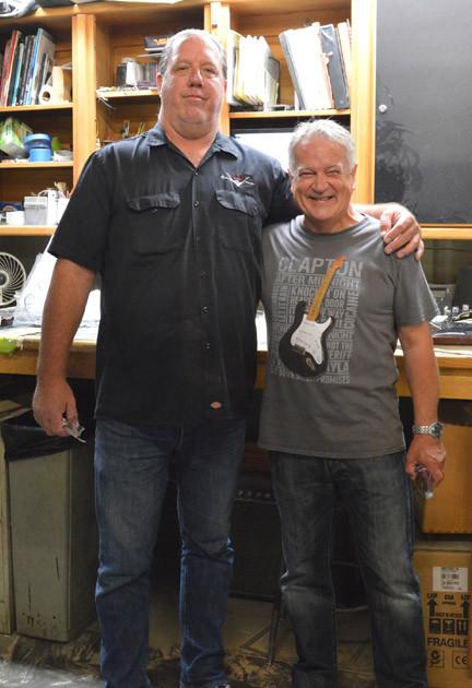 Senior Master Builder Todd Krause and Gary Davies at the Fender Custom Shop