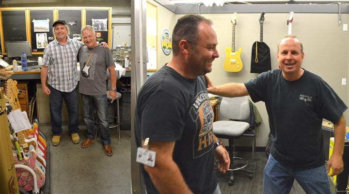 Gregg Fessler Gary Davies Paul Waller and Scott Buehl at the Fender Custom Shop