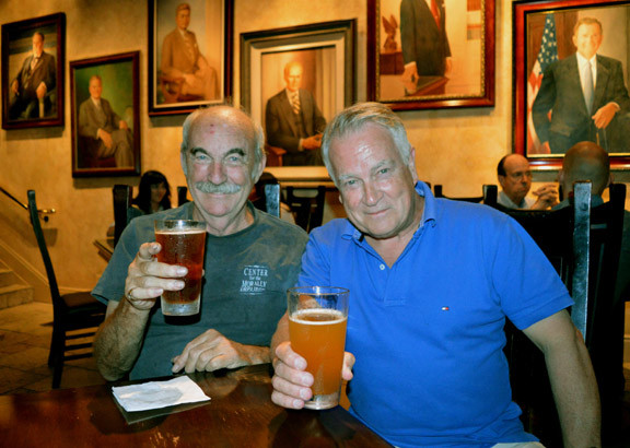 Fred Stuart and Gary Davies at the Mission Inn and Spa Riverside California