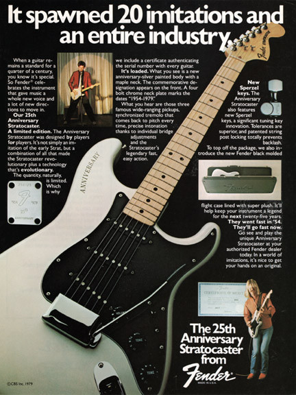 The first draft of the anniversary stratocaster stories book has been complete here is the 25th anniversary Stratd