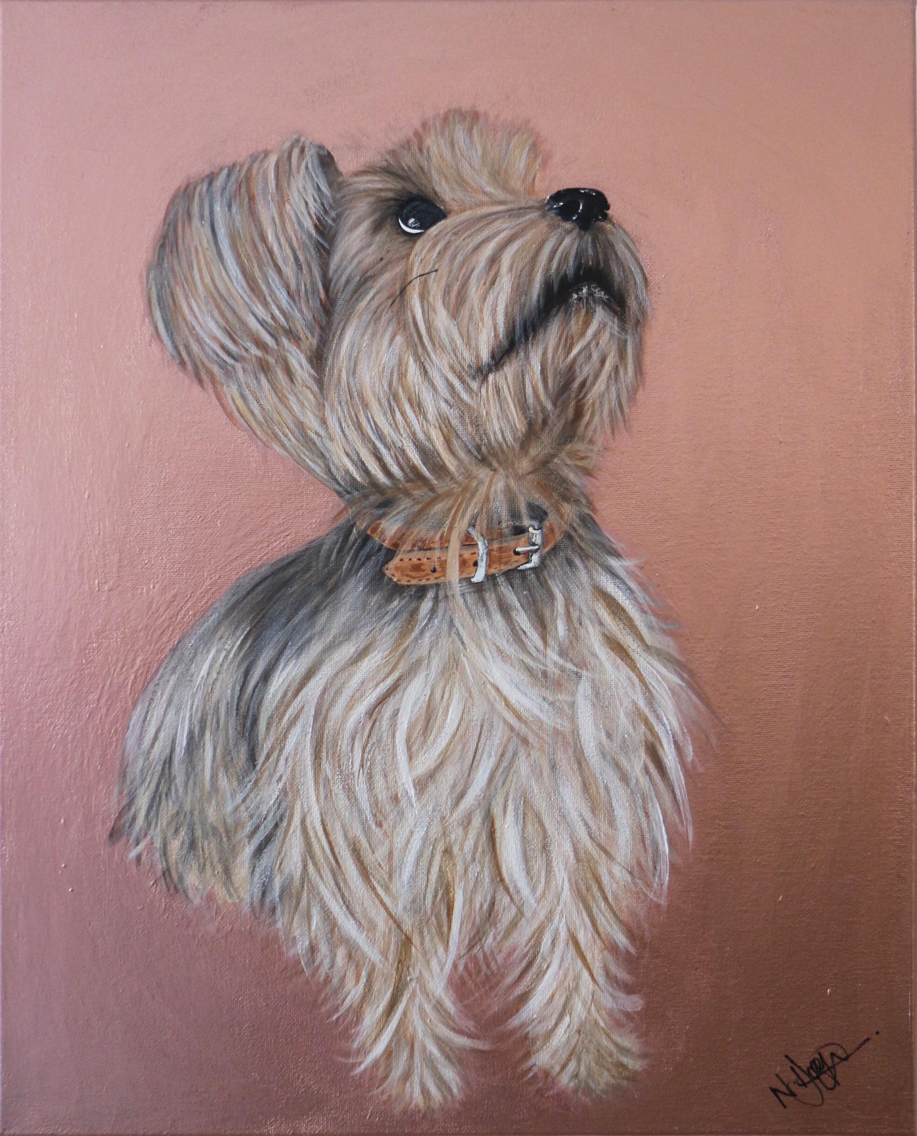 Luna Pet Portraits Natalie Daghestani Art Dubai Artist Dogs