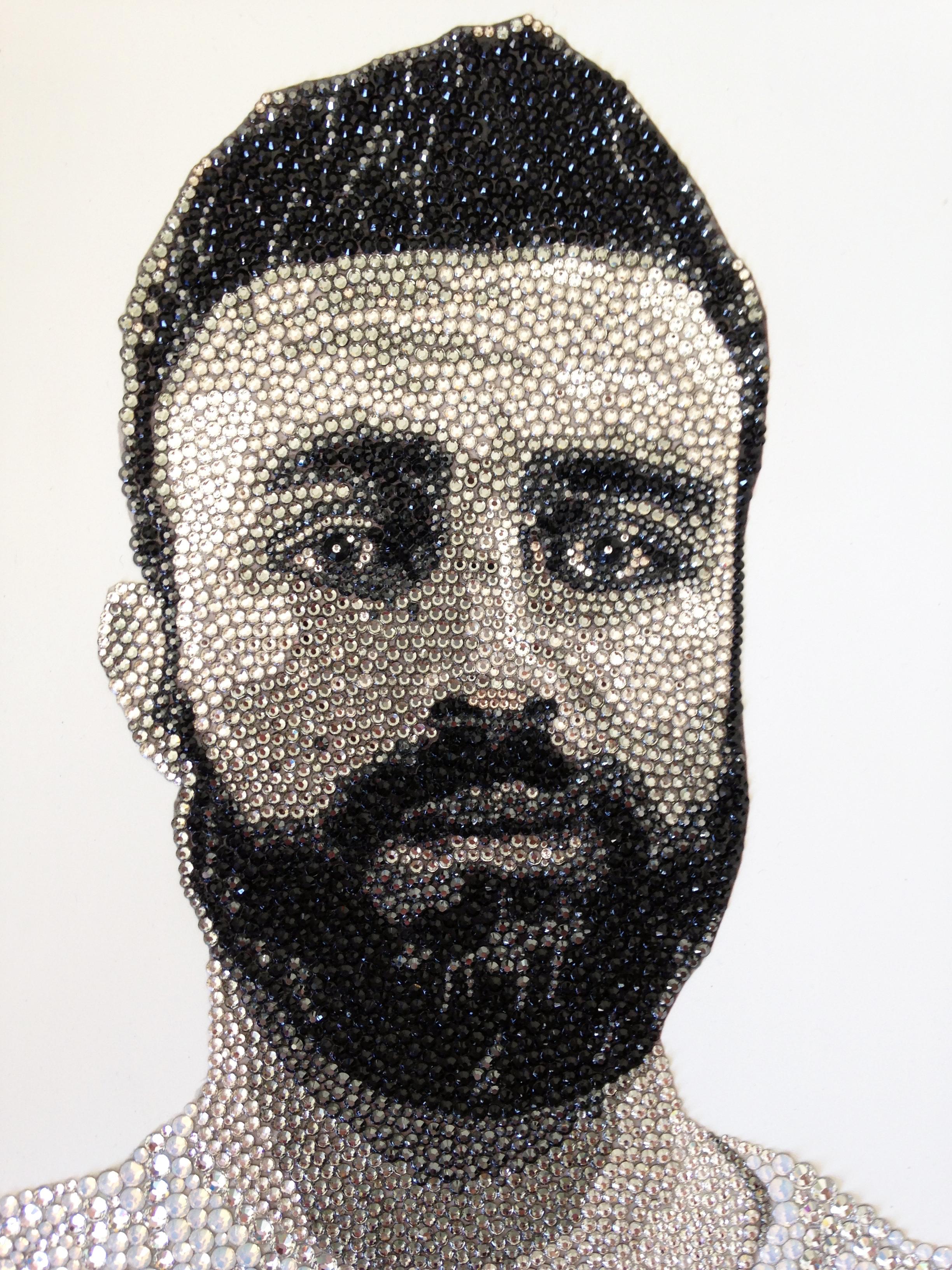 Private Commission Swarovski Portrait Natalie Daghestani Art3