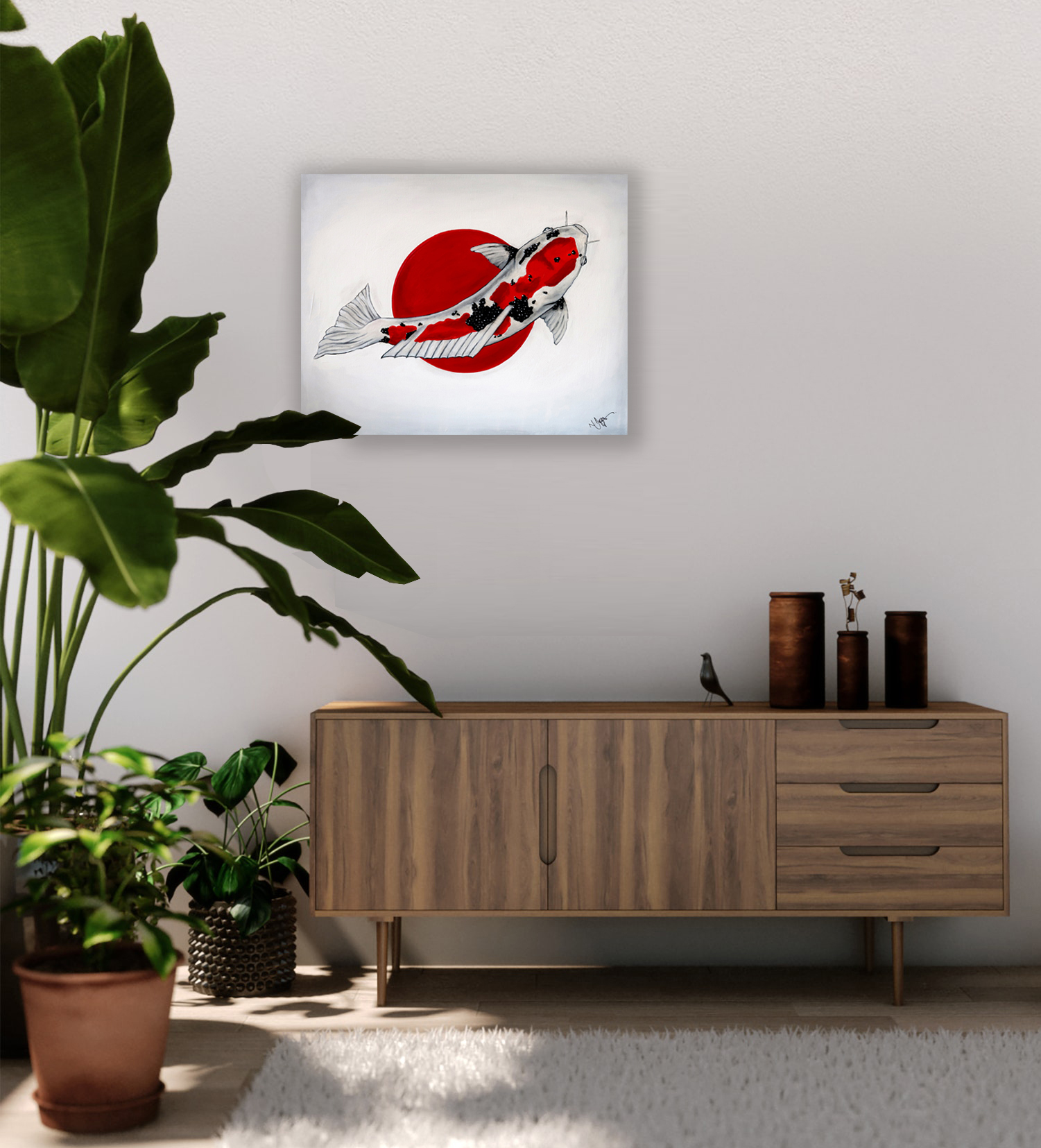 world cup artwork japan koi fish natalie