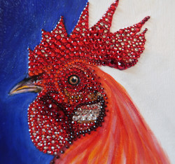 world cup artwork france rooster natalie