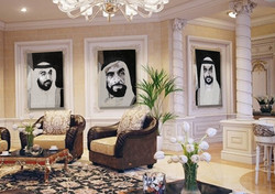 HH Sheikh Zayed Abu Dhabi Natalie Daghestani Swarovski Art4