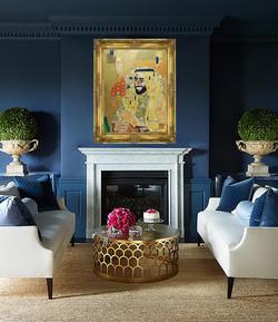 Portrait of His Highness Sheikh Zayed Natalie Daghestani Art Dubai Artist BSAB Interior Royal Art co