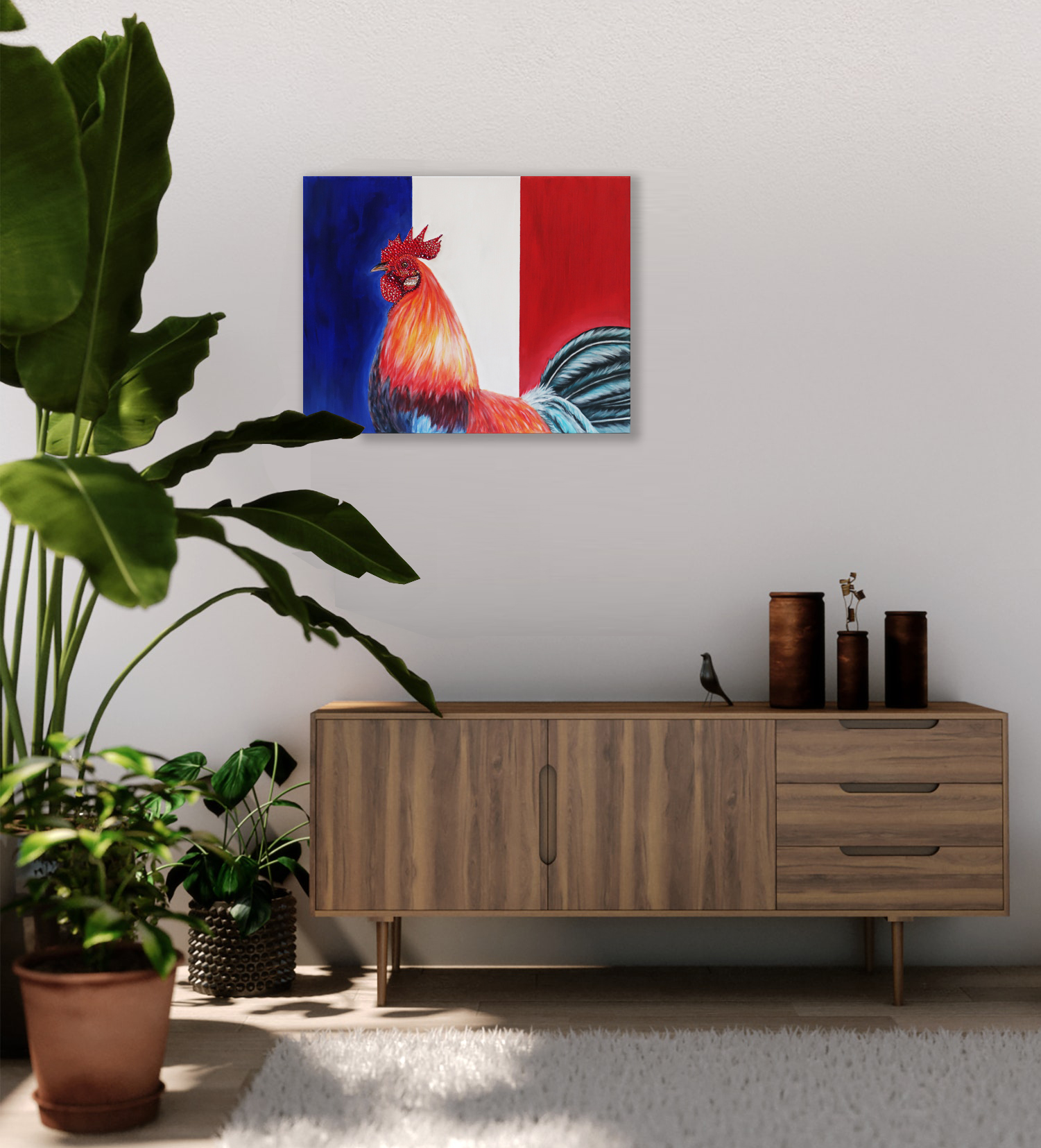 world cup artwork french rooster natalie